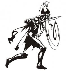 Ancient greek hero vector