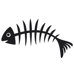 Black fish bone vector