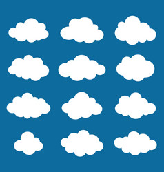 Clouds collection cloud shapes pack vector
