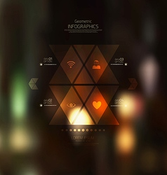 Geometric infographics vector