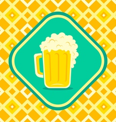 Beer yellow vector