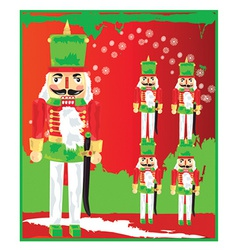 Nut cracker toy soldier vector