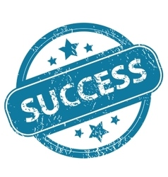 Success round stamp vector