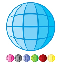 Abstract globe design vector