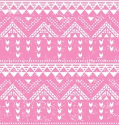 Tribal pattern pink aztec print - old grunge vector