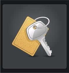 Metal keys with keychain vector