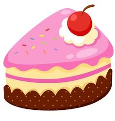 Strawberry cake vector