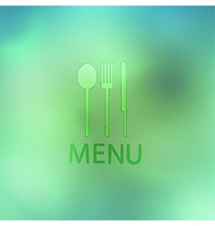 Fork and knife recycled stick on abstract backgrou vector