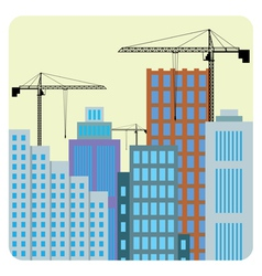 Buildings construction vector