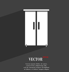 Cupboard icon symbol flat modern web design with vector