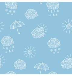 Weather seamless pattern vector