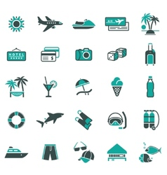 Signs vacation travel recreation first vector