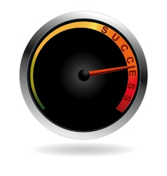 Speedometer with red needle vector