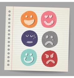 Scribble faces vector