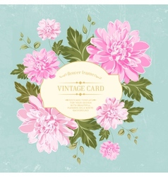 Beautiful card with a wreath of different color vector