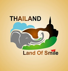 Land of smile vector