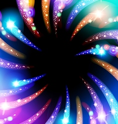 Starry fireworks background with place for text vector