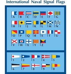 International naval signal flags vector