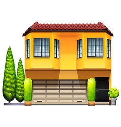 A big yellow commercial property vector