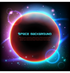Cosmos space dark background poster print vector