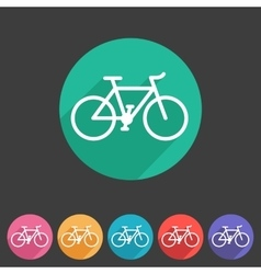 Bicycle icon sign symbol logo label set vector