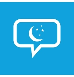 Night message icon vector