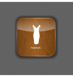 Fashion wood application icons vector