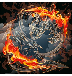 The fire gragon vector