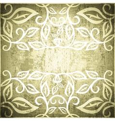 Grunge vintage floral frame vector