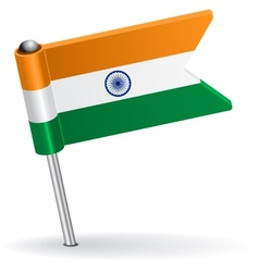 Indian pin icon flag vector