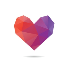 Heart shape abstract vector