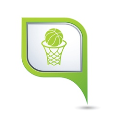 Basketball green pointer vector