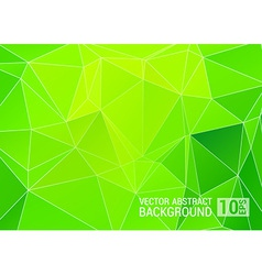 Abstract green triangle background eps10 vector