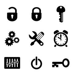 Computer icons set vector