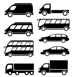 Set transport icon on white background vector
