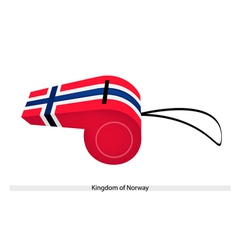 A whistle of the kingdom of norway vector