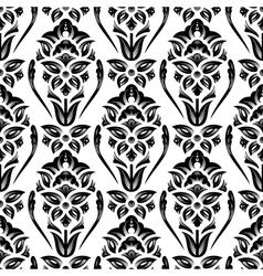 Floral damask wallpaper vector