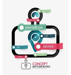 Gps navigator infographic concept vector