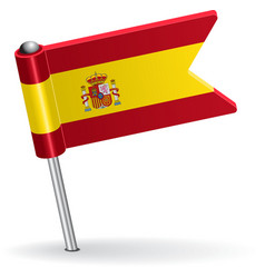 Spanish pin icon flag vector