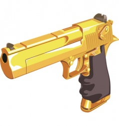 Golden glock vector