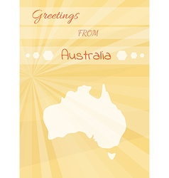 Greetings from australia vector