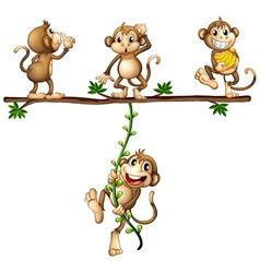 Monkeys swinging vector