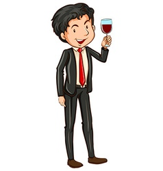 Man and cocktail vector