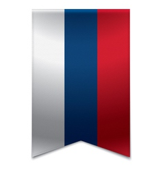 Ribbon banner - serbian flag vector