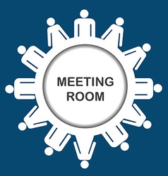 Meeting room icon vector