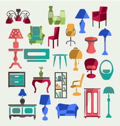 Furniture in flat style vector