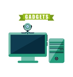 Gadget tech design vector