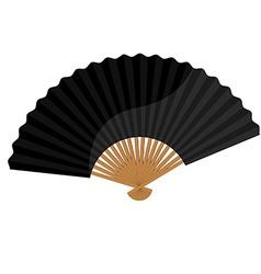 Black folding fan vector