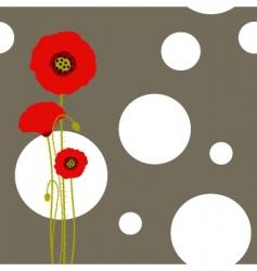 Poppy wallpaper vector