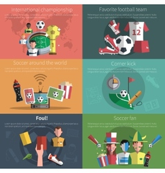 Soccer mini poster set vector